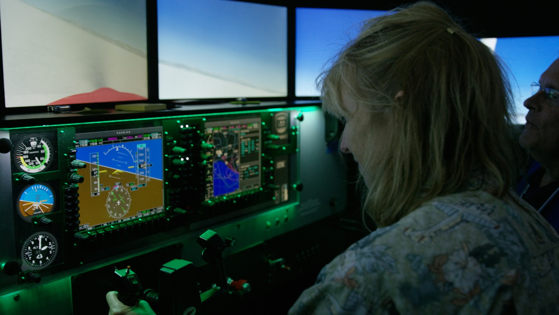 Student flying simulator