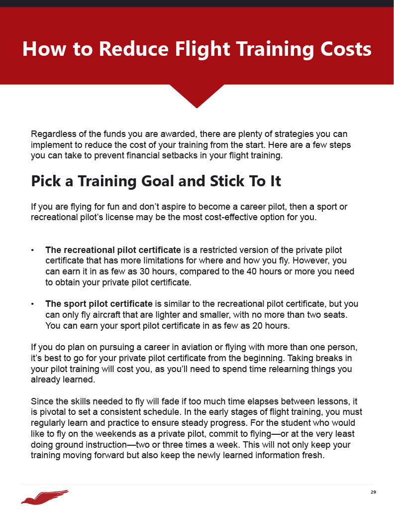 How to Reduce Flight Training Costs
